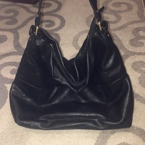 Black Slouchy Hobo Bag